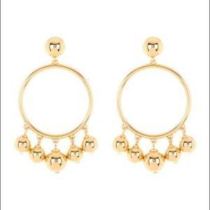NWT Kate Spade Bauble Ball Drop hoop earrings